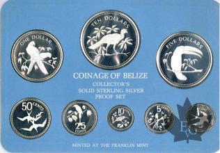 BELIZE-1975-PROOF SET- SÉRIE BE