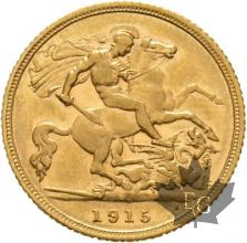 AUSTRALIE-1915S-HALF SOVEREIGN-TTB-SUP
