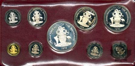 PANAMA-1974-PROOF SET-SÉRIE BE