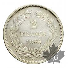 FRANCE-1846A-2 FRANCS-LOUIS PHILIPPE I-TTB+