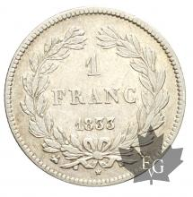 FRANCE-1833B-1 FRANC-LOUIS PHILIPPE I-TTB-SUP