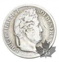 FRANCE-1831W-1/2 FRANC-LOUIS PHILIPPE-TB