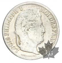 FRANCE-1834B-1/2 FRANC-LOUIS PHILIPPE-TB