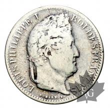 FRANCE-1836A-1/2 FRANC-LOUIS PHILIPPE-TB-TTB
