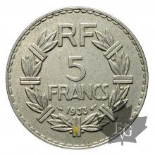 FRANCE-1933-5 FRANCS-LAVRILLIER-SUP