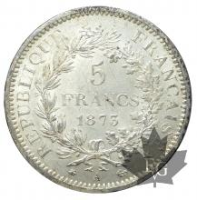 FRANCE-1873A- 5 FRANCS-HERCULE-SUP