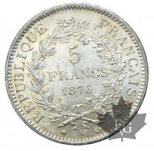 FRANCE-1876A-5 FRANCS HERCULE-SUP+