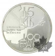 FRANCE-1994-100 FRANCS-15 ECU-TUNNEL SOUS LA MANCHE-PROOF