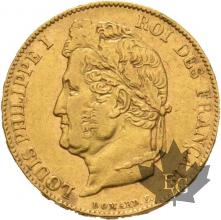 FRANCE-1833W-20 FRANC-LOUIS PHILIPPE I-LILLE-TTB-SUP