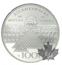 FRANCE-1993-100-FRANCS-MONA-LISA-PARIS-PROOF