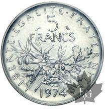 FRANCE-1974-5 FRANCS SEMEUSE-FDC