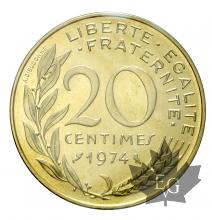 FRANCE-1974-20 CENTIMES-FDC