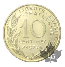 FRANCE-1974-10 CENTIMES-FDC
