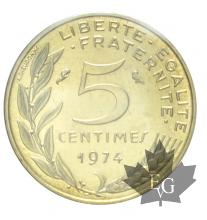 FRANCE-1974-5 centimes-FDC