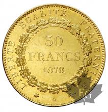 FRANCE-1878-50 FRANCS-III RÉPUBLIQUE-PARIS-SUP