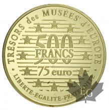FRANCE-1996-500 FRANCS-75 EURO-PENSEUR-PROOF