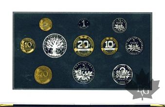 FRANCE-2000-SERIE PROOF-COFFRET BE FRANCS