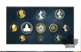 FRANCE-1998-SERIE PROOF-COFFRET BE FRANCS