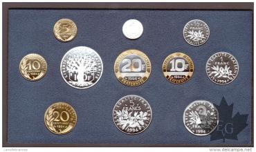 FRANCE-1994-SERIE PROOF-COFFRET BE FRANCS