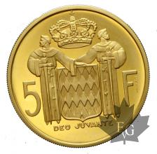 MONACO-1966-5 FRANCS-RAINIER III-ESSAI-BE-PROOF