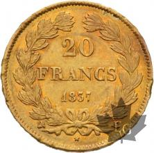 FRANCE-1837W-20 FRANCS-Louis Philippe-SUP+- Lille