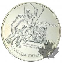 CANADA-1997-1 DOLLAR Canada/Russia Hockey Series-PROOF