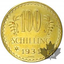 AUTRICHE-1931-100 SCHILLING-PROOF