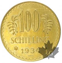 AUTRICHE-1934-100 SCHILLING-PROOF