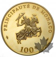MONACO-2003-100 EURO-Rainier III-PROOF