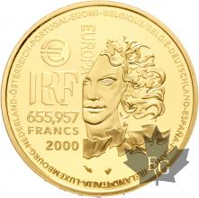 FRANCE-2000-655,95-FRANCS-ART-NOUVEAU-PROOF-BE
