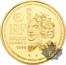FRANCE-1999-655,95-FRANCS-ART-GOTHIQUE-PROOF-BE
