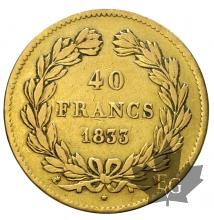 FRANCE-1833A-40 FRANCS-LOUIS PHILIPPE Ier-TTB+