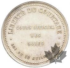 FRANCE-1866-JETON-LIBERTE-DU-COURTAGE-SOIES-TTB+