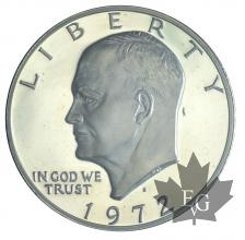 USA-1972S-1 DOLLAR-Eisenhower Dollar-PROOF