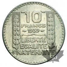 FRANCE-1939-10 FRANCS TURIN-SUP