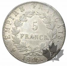 FRANCE-5 FRANCS-1815 A-Cent jours-TTB+