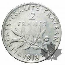 FRANCE-1913-2 Francs semeuse-SUP