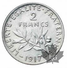 FRANCE-1917-2 Francs semeuse-FDC