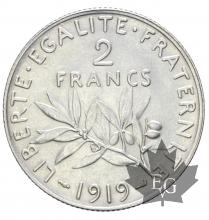 FRANCE-1919-2 Francs semeuse-FDC