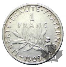 FRANCE-1909-1 Franc semeuse-SUP