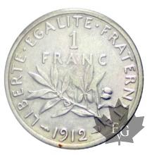 FRANCE-1912-1 Franc semeuse-SUP