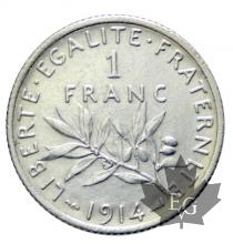 FRANCE-1914-1 Franc semeuse-SUP