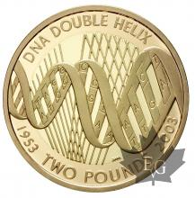 GRANDE BRETAGNE-2003-2 POUNDS-Double Helix Discovery-PROOF