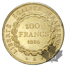 FRANCE-1886 A-100 FRANCS-III ème REPUBLIQUE-TTB-SUP