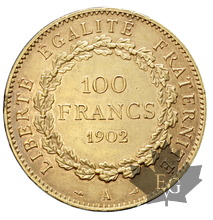 FRANCE-1902-100 FRANCS-III République-TTB+