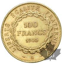 FRANCE-1905 A-100 FRANCS-III REPUBLIQUE-presqeu SUP