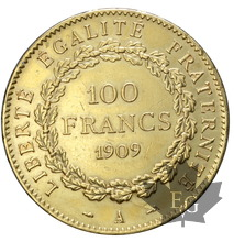 FRANCE-1909-100 FRANCS-III République-TTB+