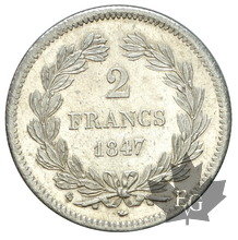 FRANCE-1847K-2 FRANCS-LOUIS PHILIPPE-SUP-FDC