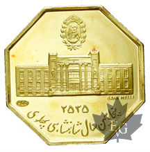 IRAN-MÉDAILLE EN OR OCTAGONALE-1976-PROOF