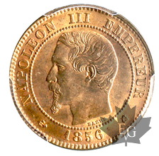 FRANCE-1856K-2 CENTIMES-Napoleon III-PCGS MS64RD